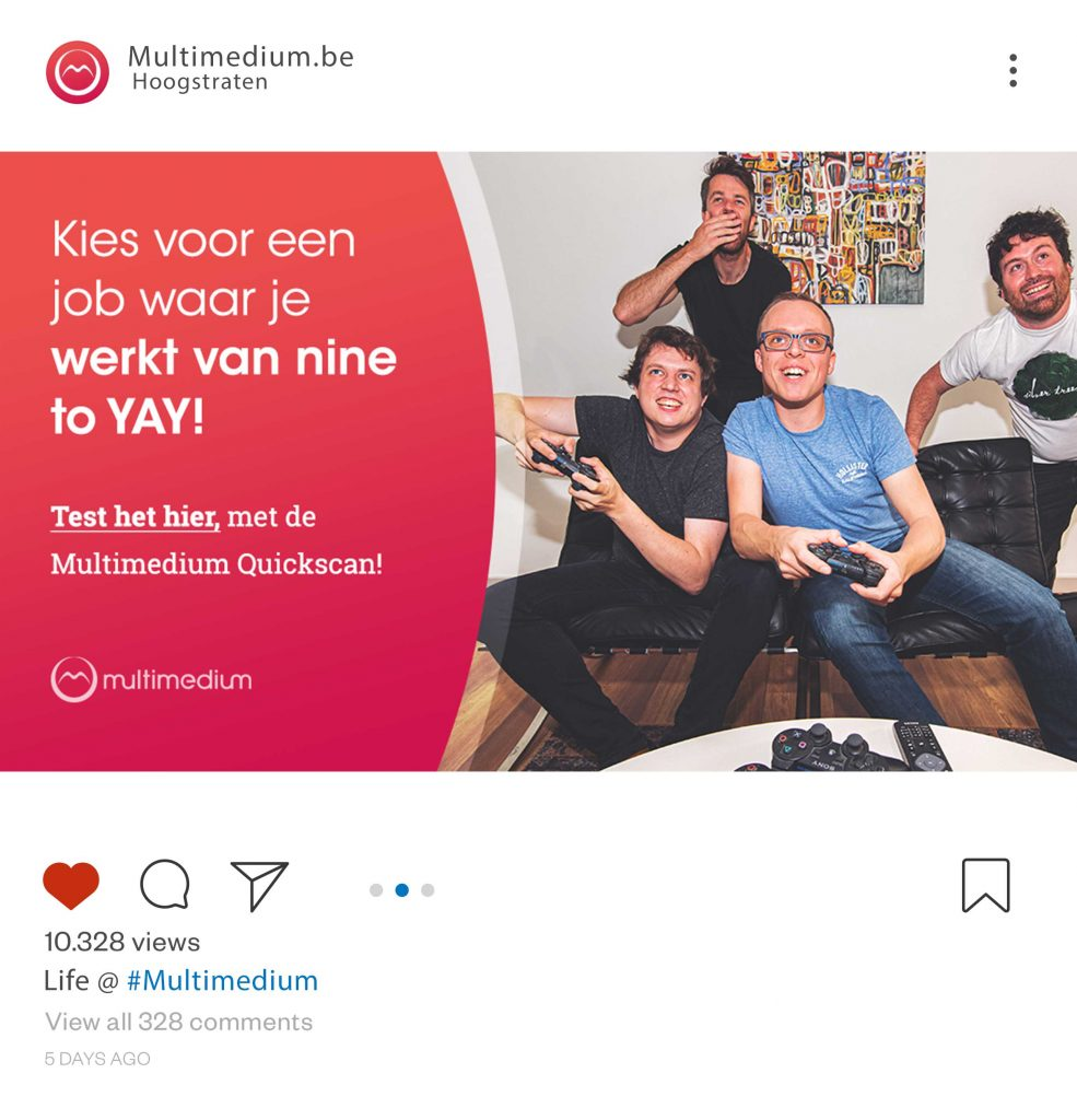 Multimedium social media post